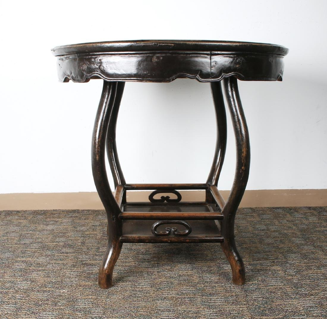 ROUND MARBLE TOP SIDE TABLE - 2