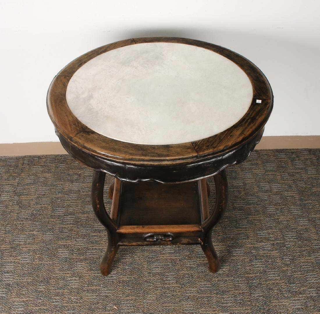 ROUND MARBLE TOP SIDE TABLE - 3