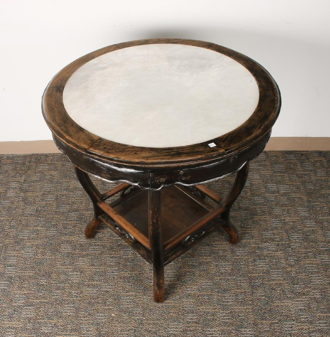 ROUND MARBLE TOP SIDE TABLE - 4