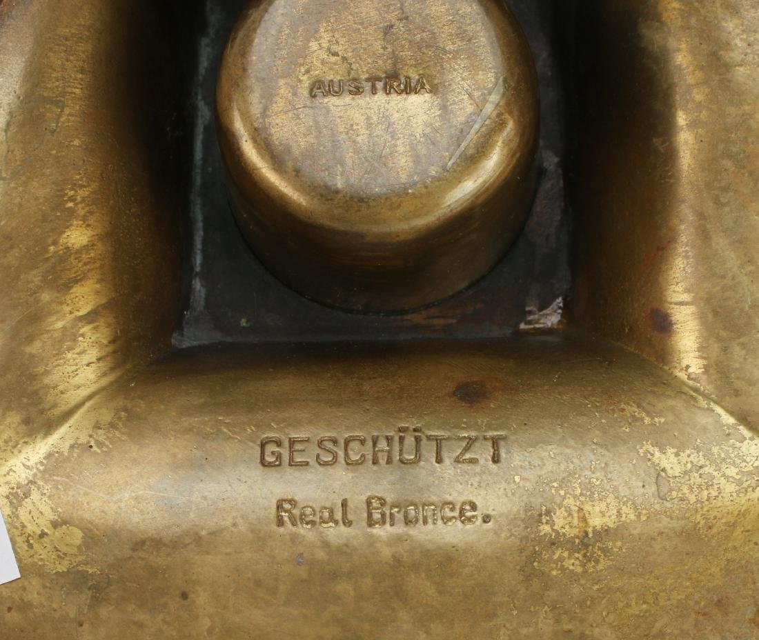 GESCHUTZT-AUSTRIA BRONZE INKWELL - 10