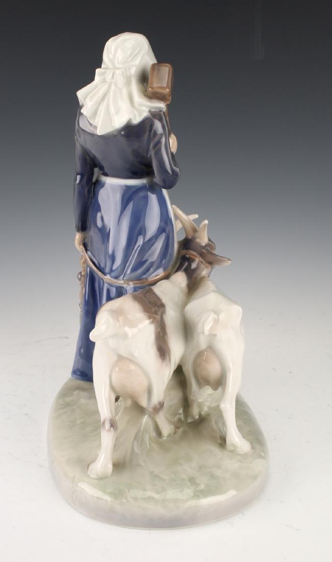 ROYAL COPENHAGEN WOMAN WITH GOATS FIGURINE - 5