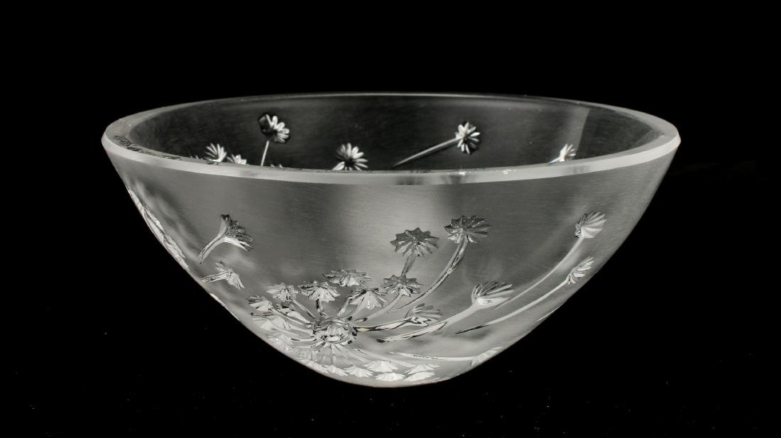 FRENCH LALIQUE CRYSTAL BUCOLIQUE BOWL