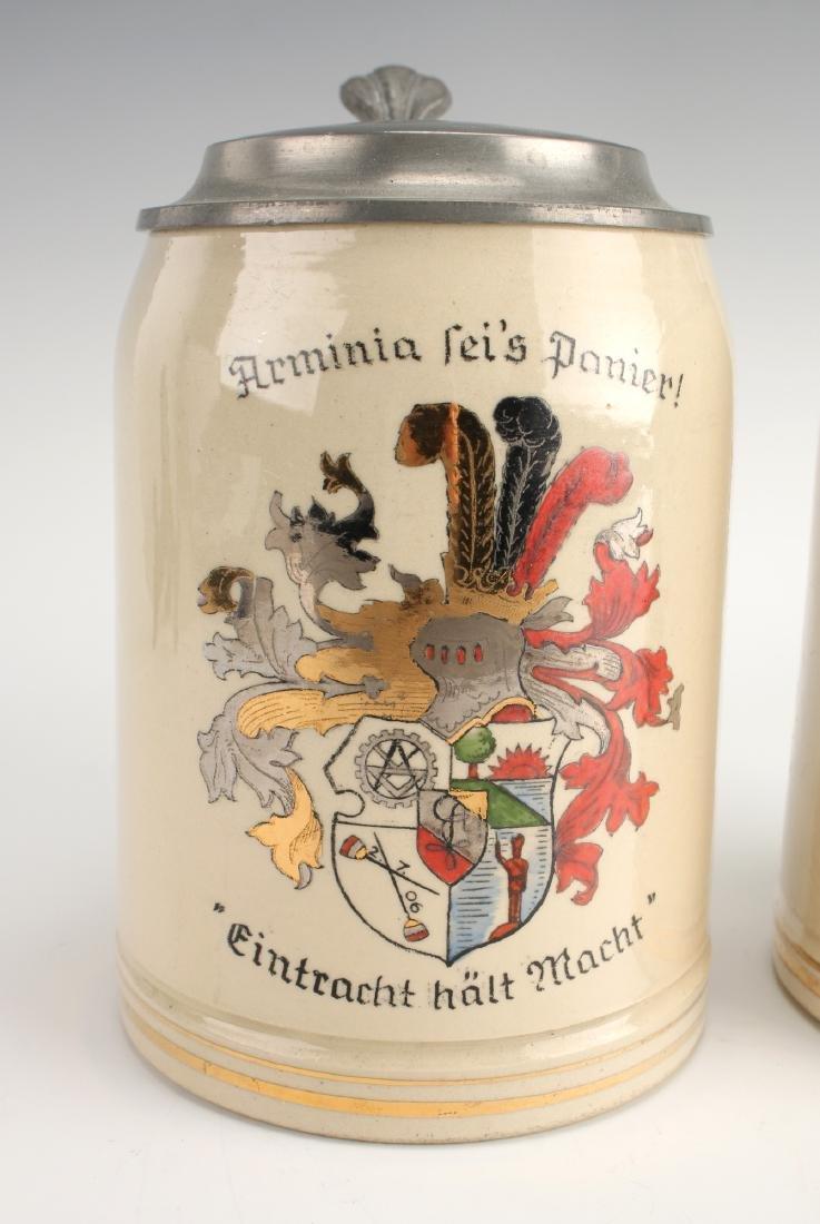 PAIR OF GERMAN BEER STEINS - 2