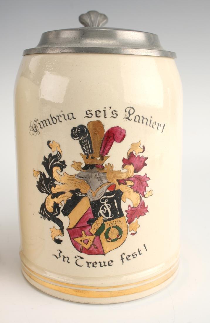 PAIR OF GERMAN BEER STEINS - 3