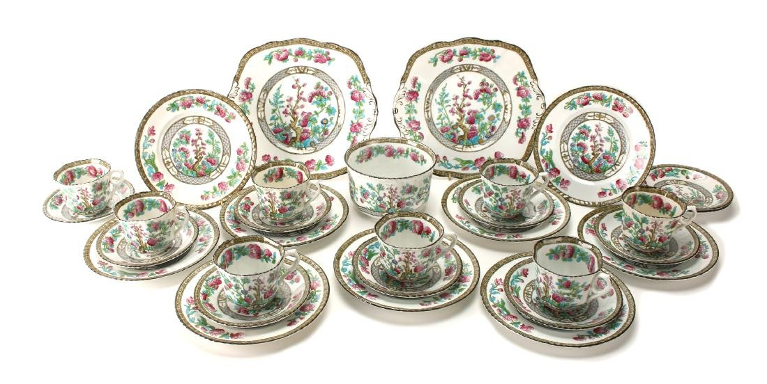 ENGLISH PHOENIX CHINA DESSERT SET TF&S LTD