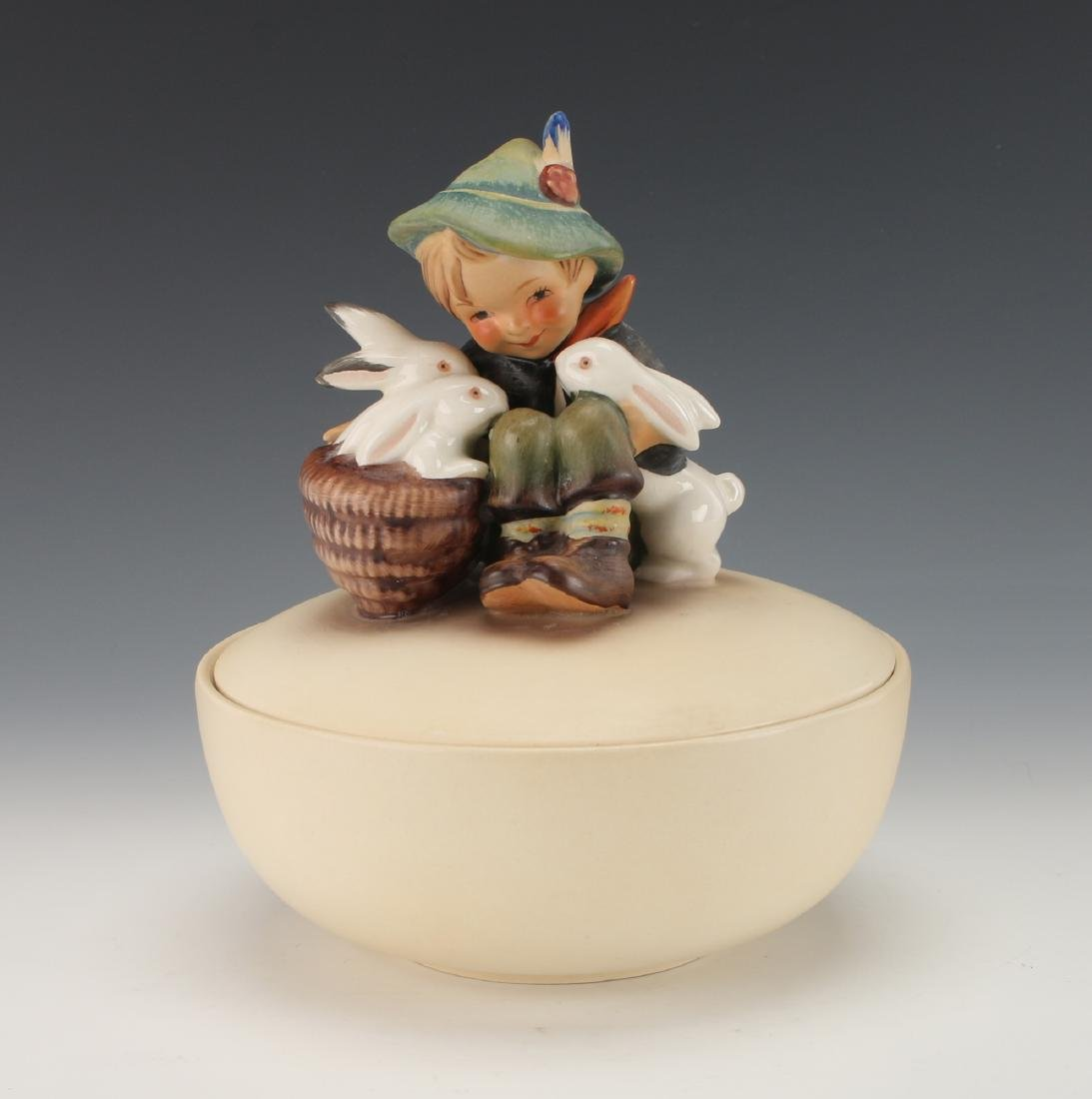 "HUMMEL ""PLAYMATES"" LIDDED TRINKET BOX"