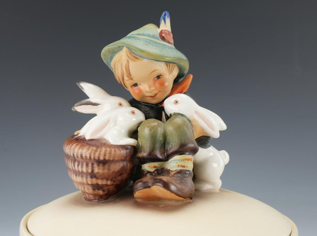 "HUMMEL ""PLAYMATES"" LIDDED TRINKET BOX - 2"