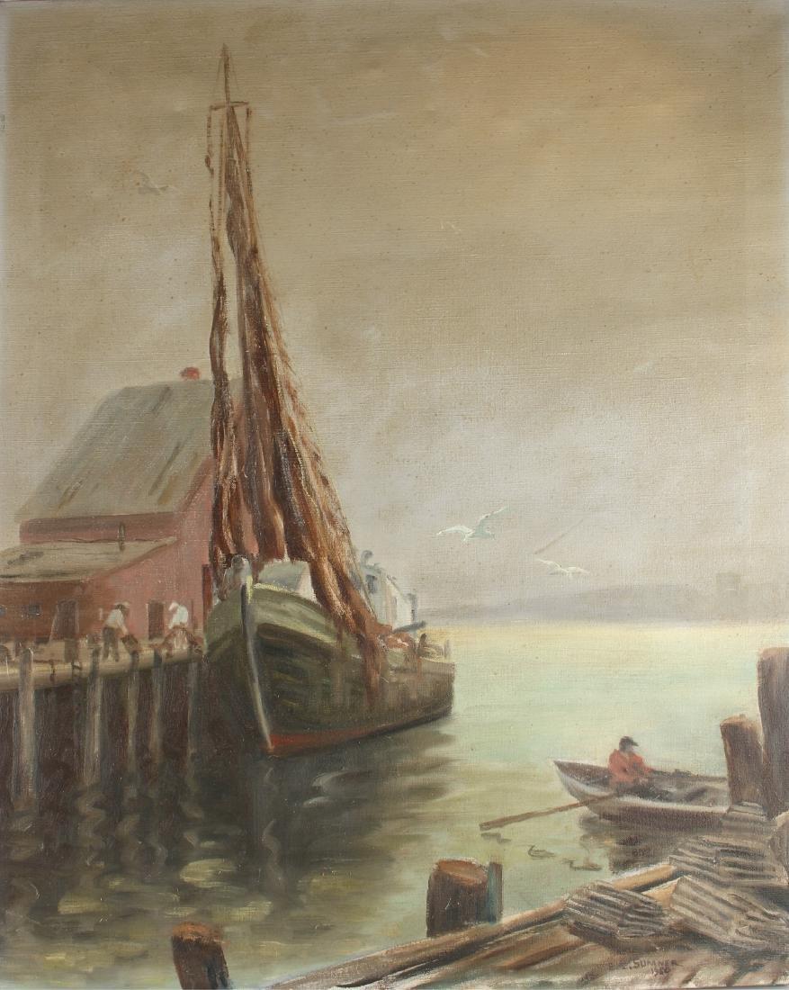 SEASCAPE BY E.L. SUMNER 1960