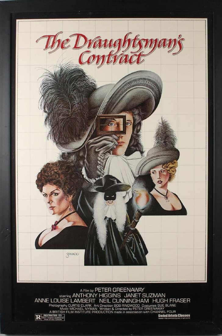 DRAUGHTSMAN'S CONTRACT FRAMED MOVIE POSTER