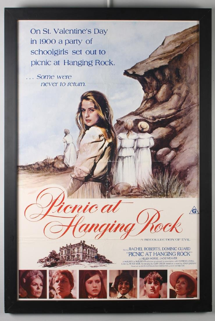 PICNIC AT HANGING ROCK FRAMED MOVIE POSTER