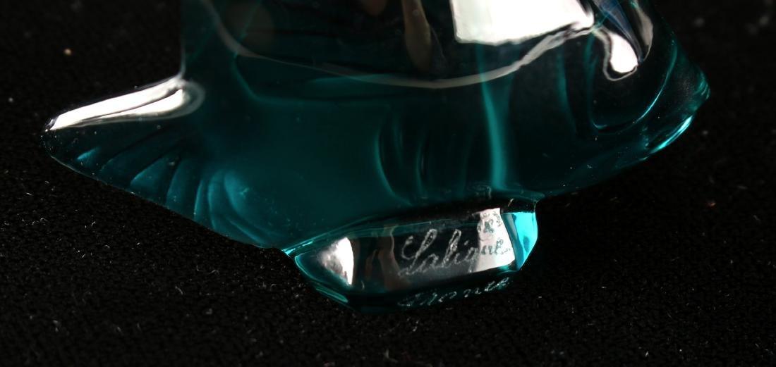THREE LALIQUE ART GLASS FISH - 5