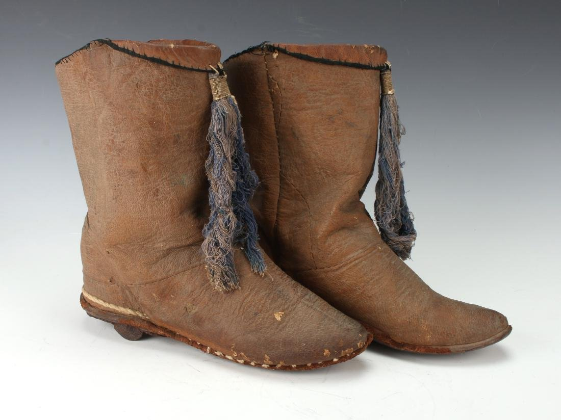 PAIR OF ANTIQUE TURKISH RIDING BOOTS