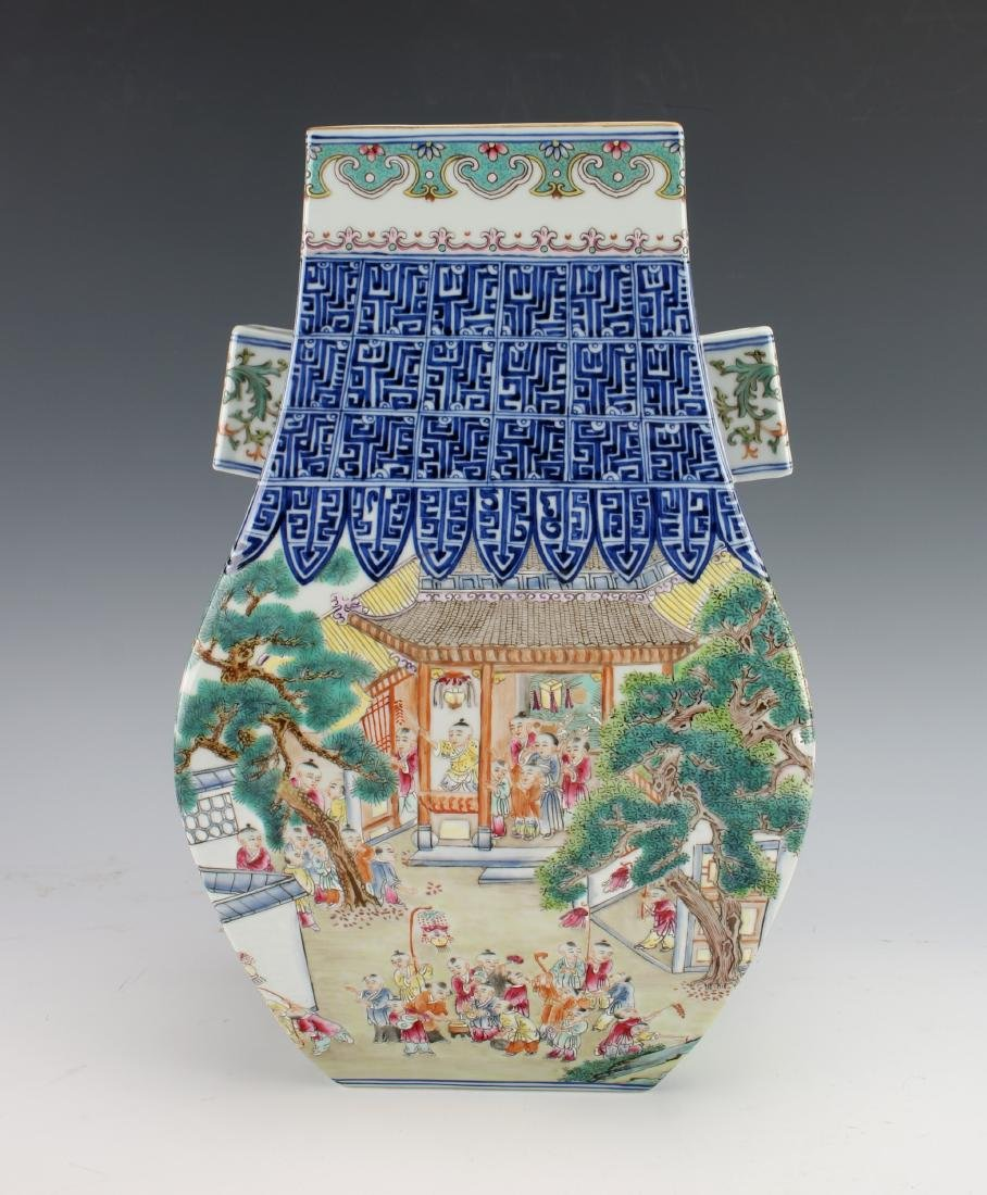 VERY FINE QIANLONG 100 CHILDREN FAMILLE ROSE VASE - 9
