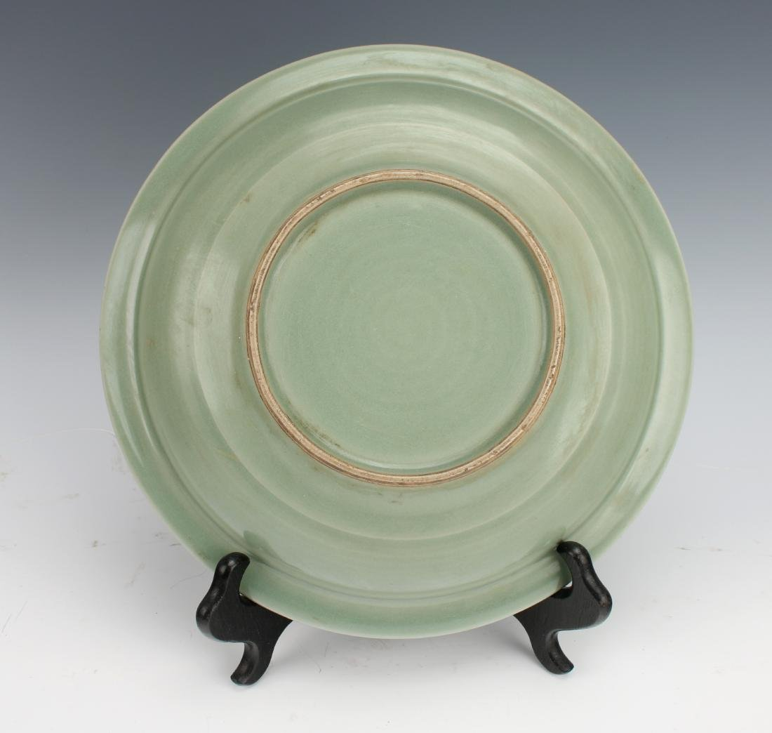 MING DYNASTY CELADON DRAGON BOWL - 5