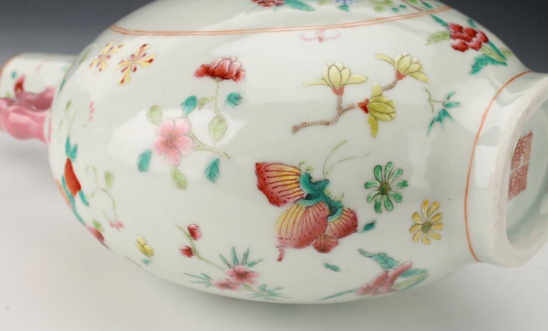 SMALL QING DYNASTY BUTTERFLY MOON FLASK - 10