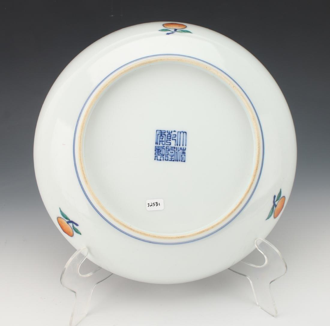 CHINESE PORCELAIN PEACH BOWL - 4
