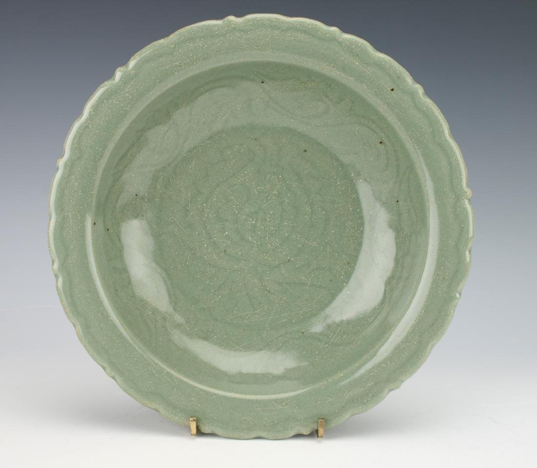 MING DYNASTY INCISED CELADON BOWL