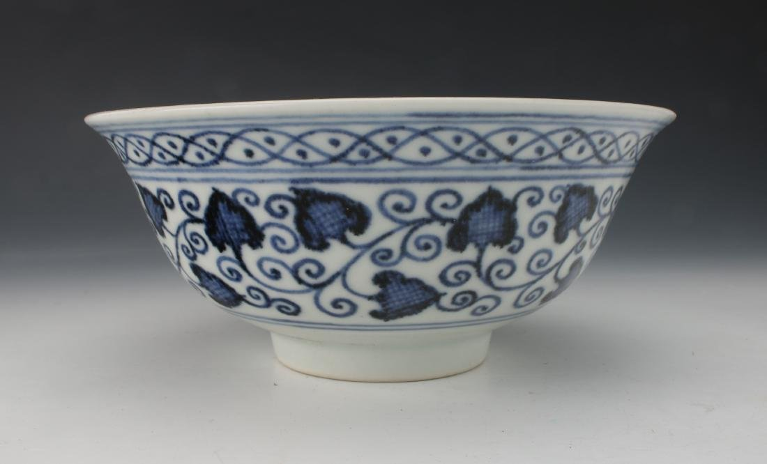 BLUE AND WHITE LOTUS BOWL - 3