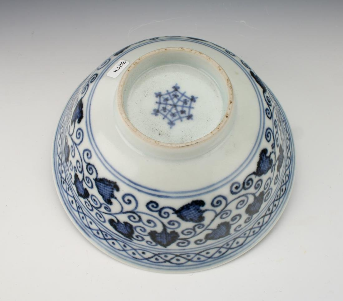 BLUE AND WHITE LOTUS BOWL - 4