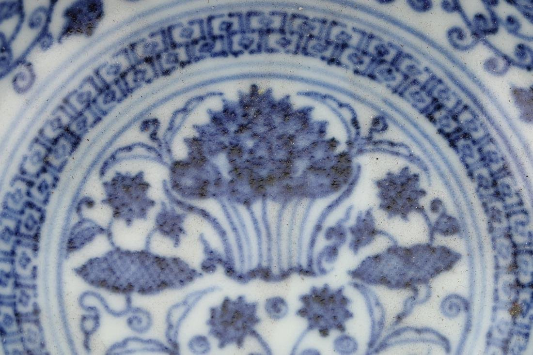 BLUE AND WHITE LOTUS BOWL - 5