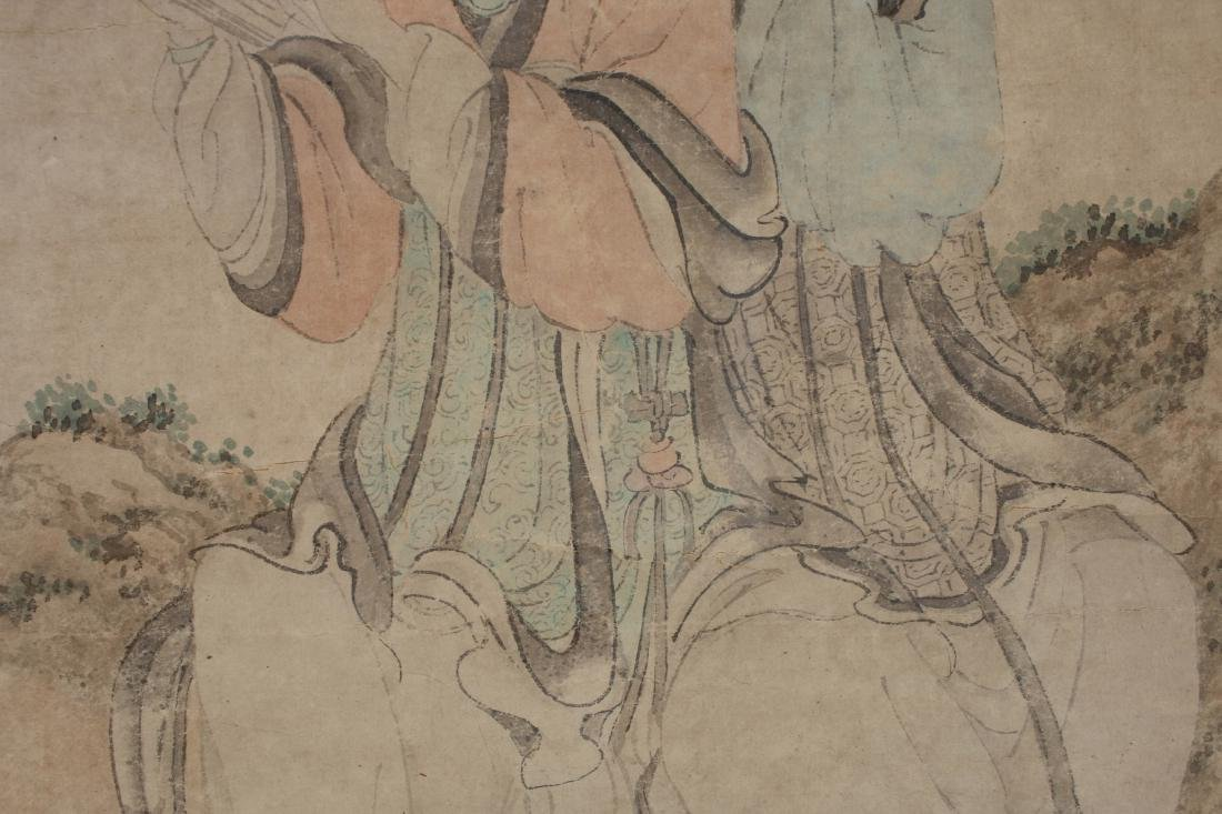 YOU QIU MING DYNASTY WATERCOLOR PAINTING SCROLL - 6