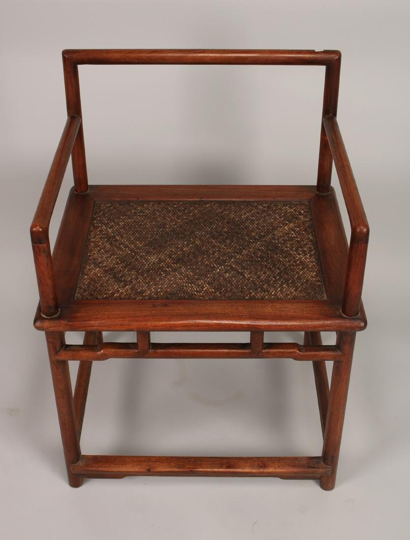 PAIR OF QING HUANGHUALI CHAIRS - 4