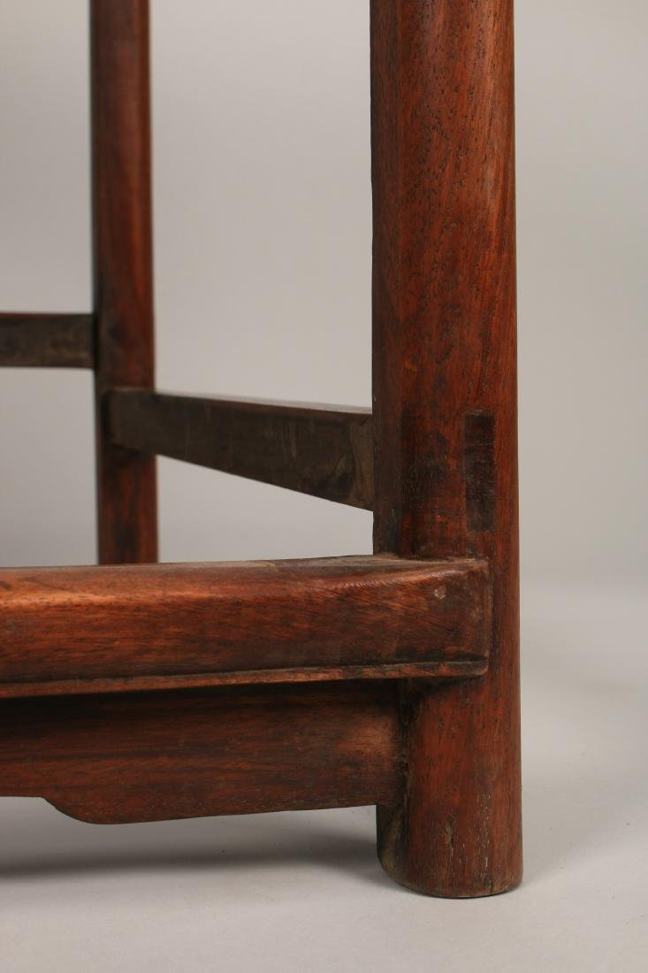 PAIR OF QING HUANGHUALI CHAIRS - 5