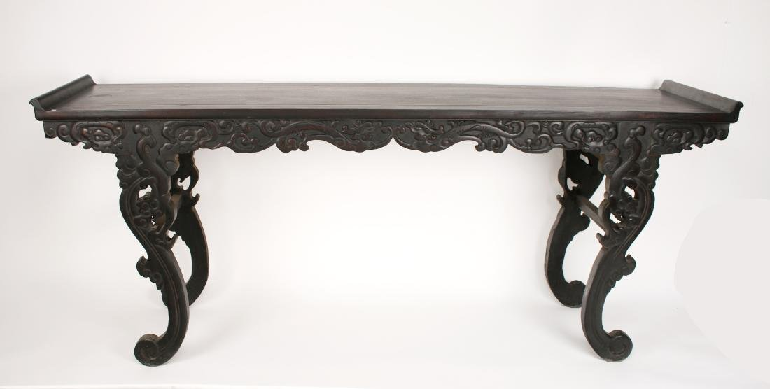 LONG CARVED ZITAN ALTAR TABLE - 2