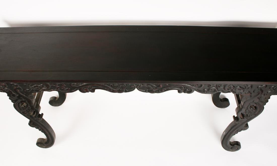 LONG CARVED ZITAN ALTAR TABLE - 3
