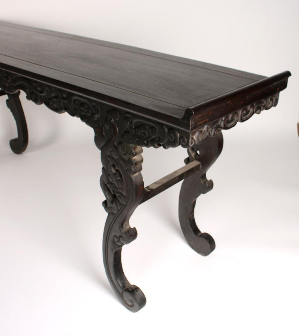 LONG CARVED ZITAN ALTAR TABLE - 4
