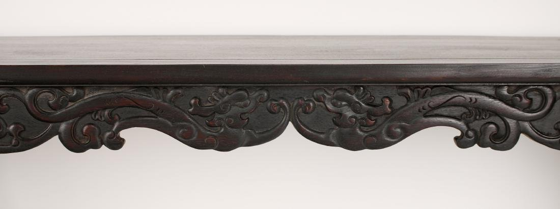 LONG CARVED ZITAN ALTAR TABLE - 5