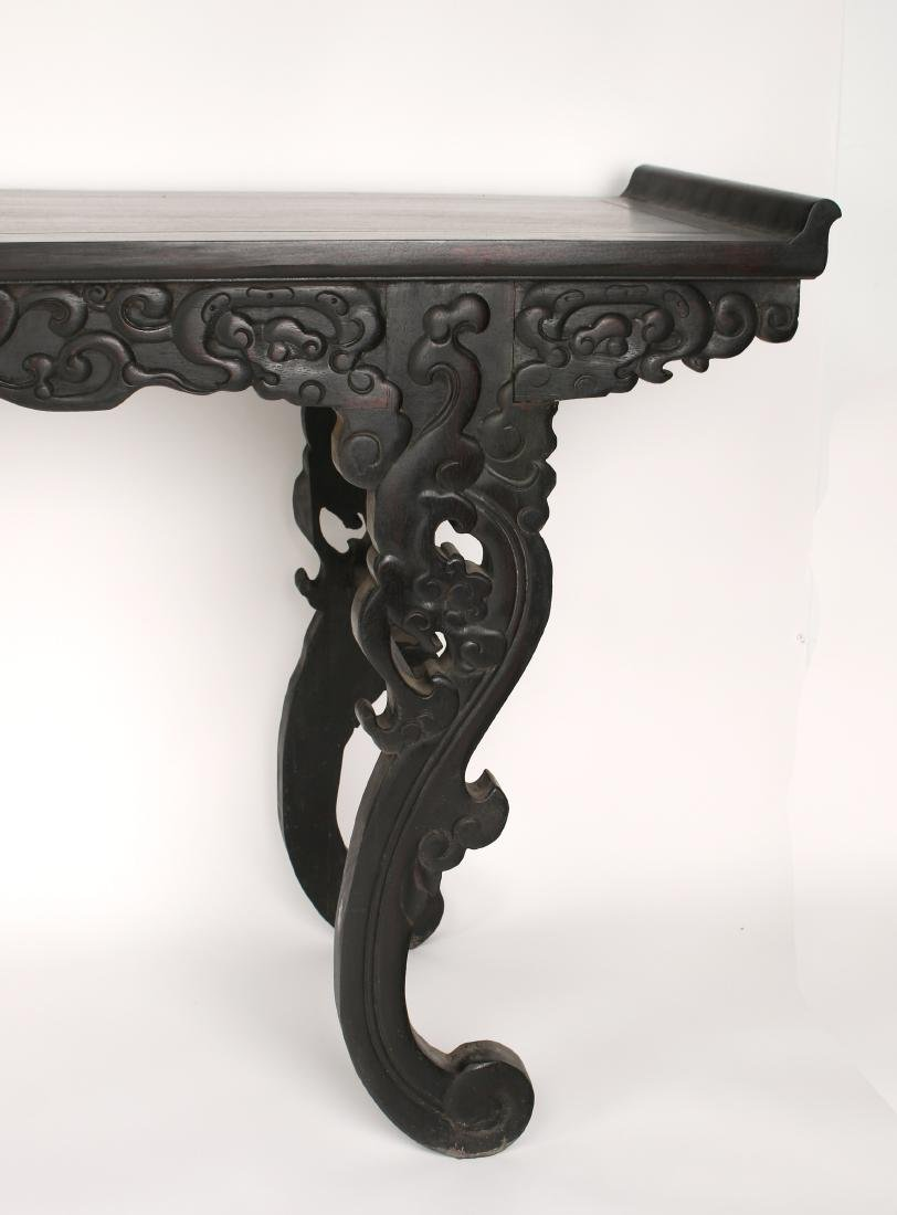 LONG CARVED ZITAN ALTAR TABLE - 6