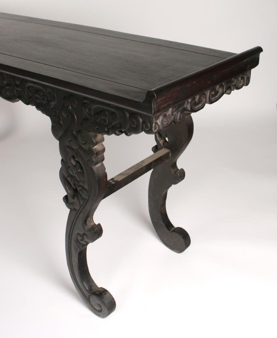 LONG CARVED ZITAN ALTAR TABLE - 8