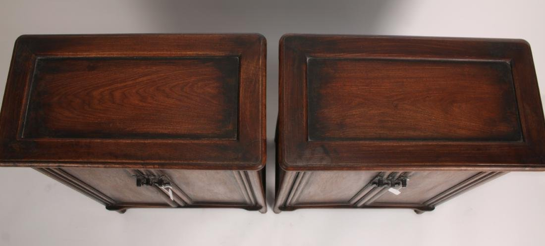 PAIR OF SHORT HUANGHUALI CABINETS - 2