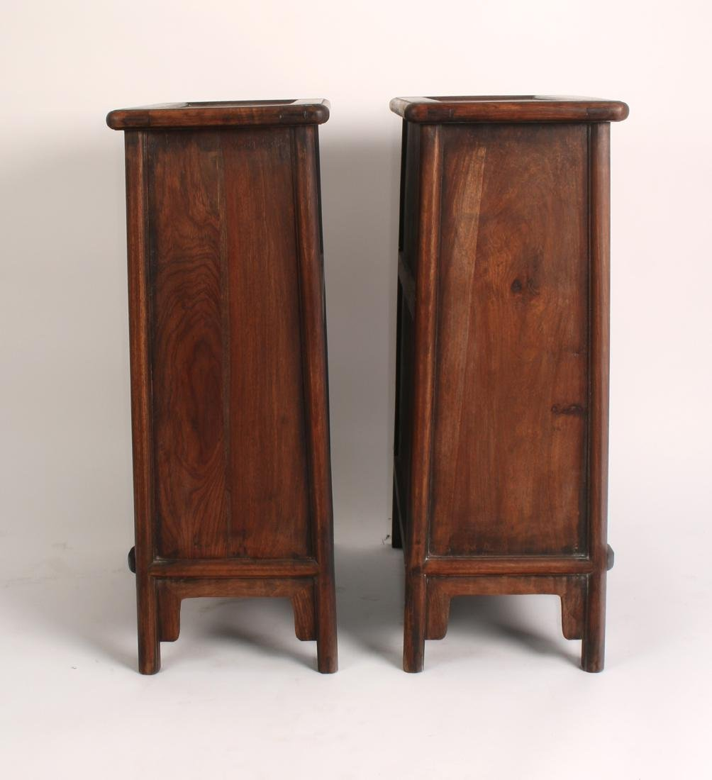 PAIR OF SHORT HUANGHUALI CABINETS - 7