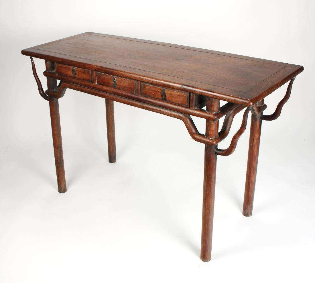 HUANGHUALI PAINTING TABLE WITH THREE DRAWERS