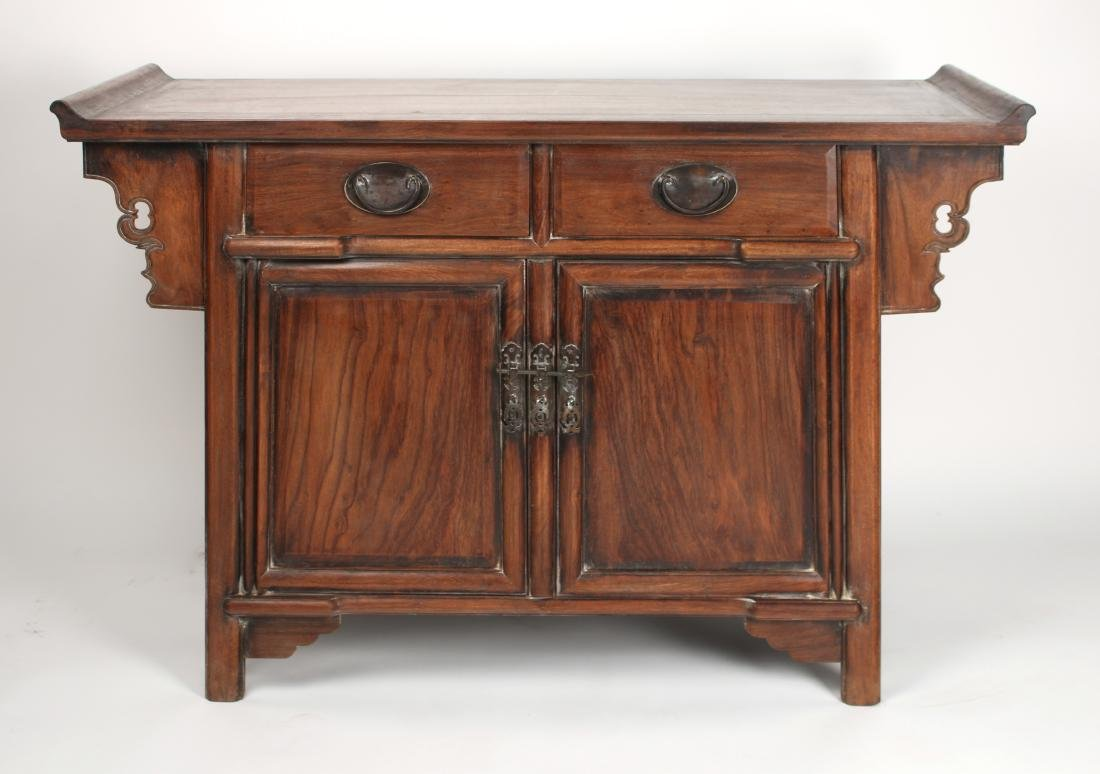 HUANGHUALI ALTAR TABLE WITH DRAWERS & CABINETS - 2