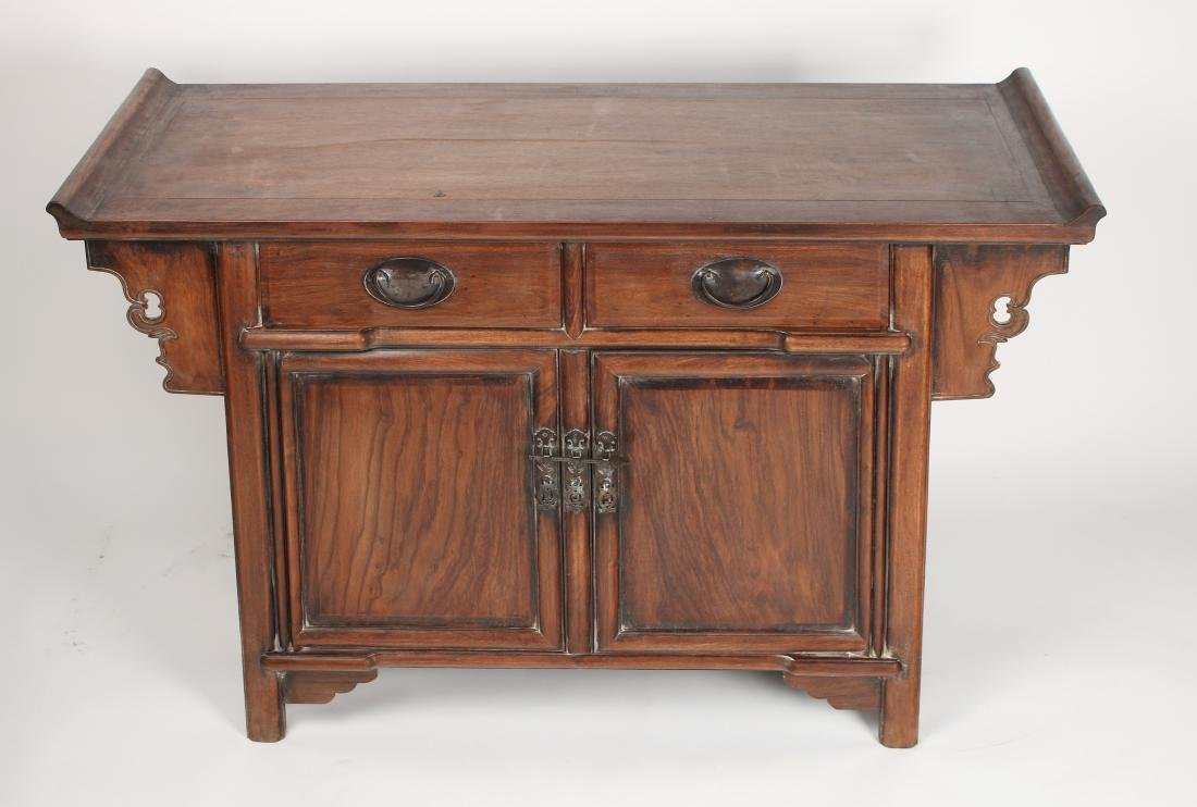 HUANGHUALI ALTAR TABLE WITH DRAWERS & CABINETS - 3
