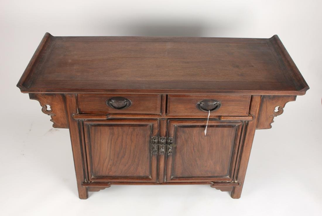 HUANGHUALI ALTAR TABLE WITH DRAWERS & CABINETS - 4
