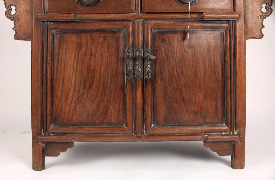 HUANGHUALI ALTAR TABLE WITH DRAWERS & CABINETS - 5