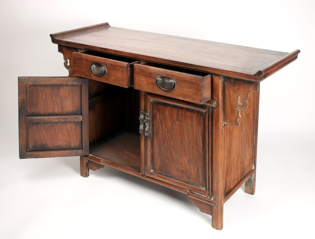 HUANGHUALI ALTAR TABLE WITH DRAWERS & CABINETS - 6