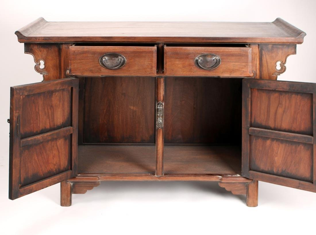 HUANGHUALI ALTAR TABLE WITH DRAWERS & CABINETS - 7