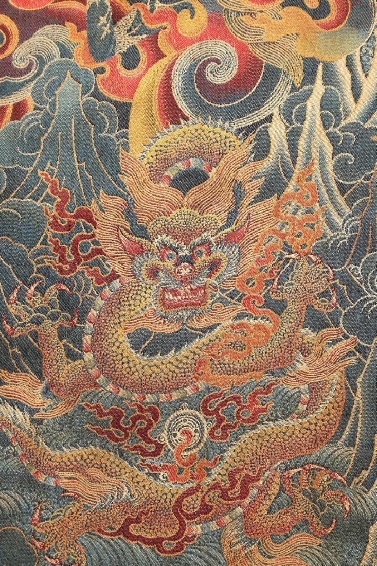 RARE & FINE SILK TIBETAN THANGKA OF YAMANTAKA - 4