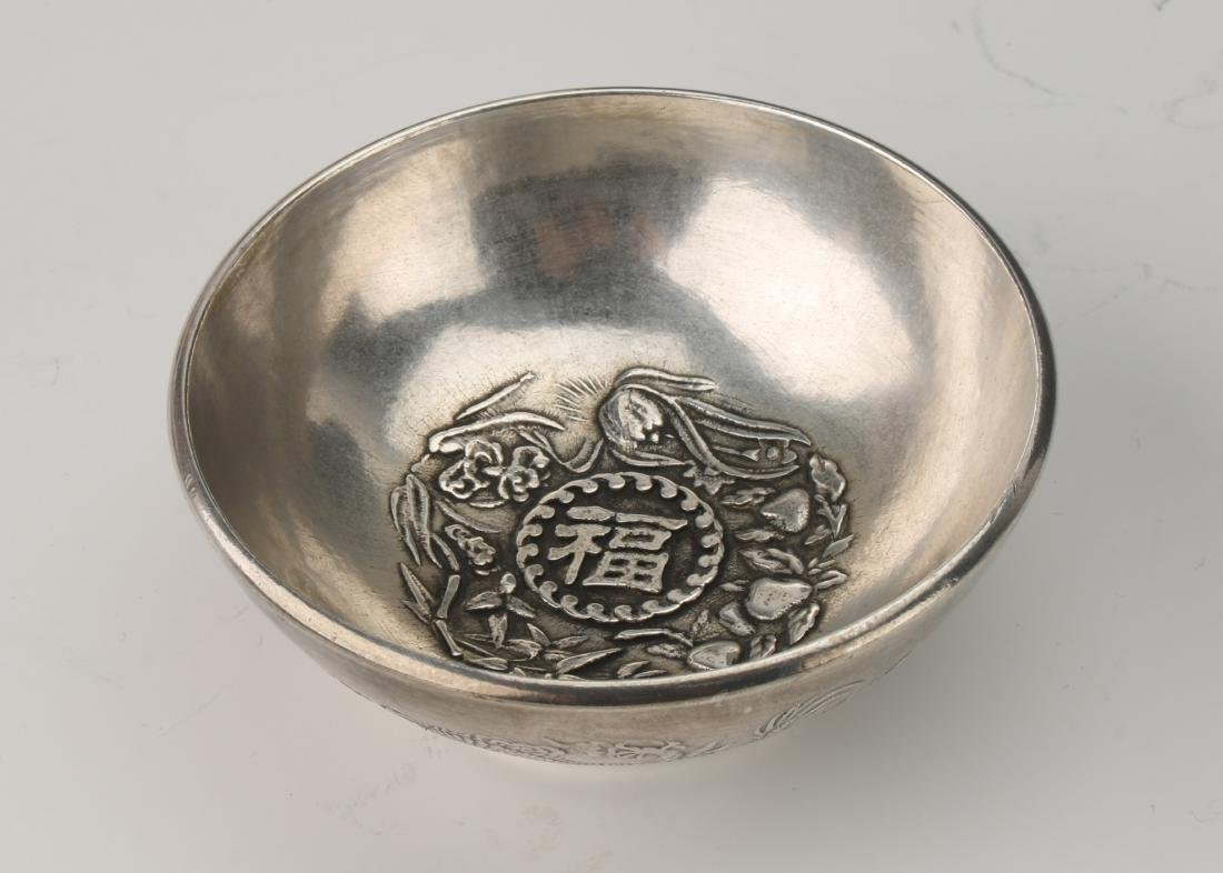 CHINESE SILVER BOWL - 5