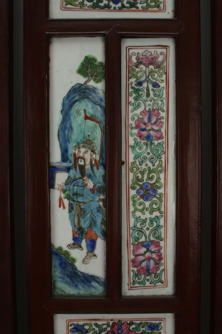 FOUR CHINESE 19TH C PORCELAIN PANELS - 2