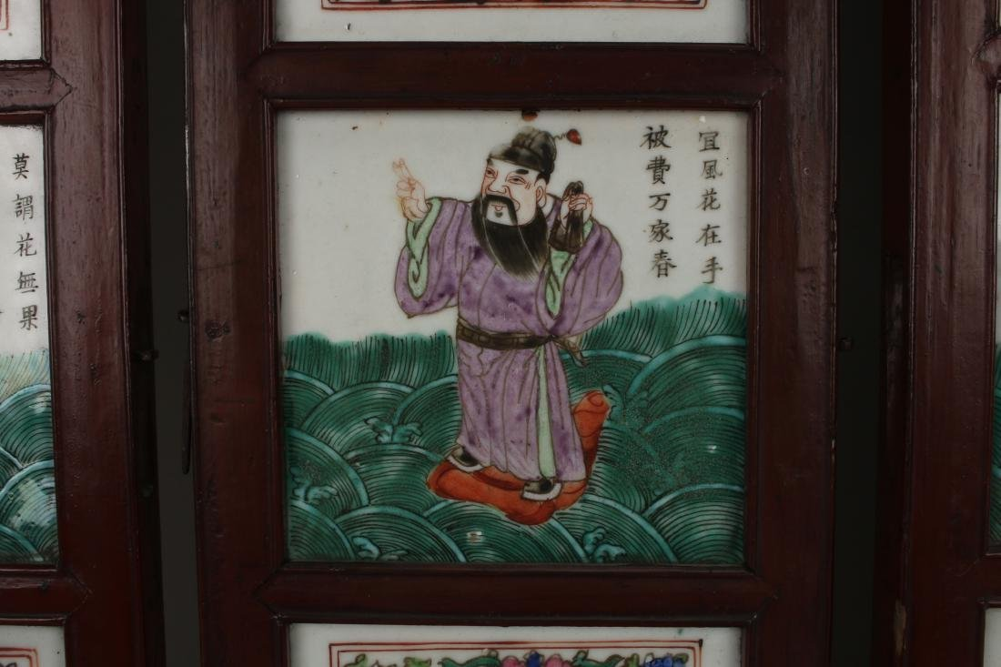 FOUR CHINESE 19TH C PORCELAIN PANELS - 4