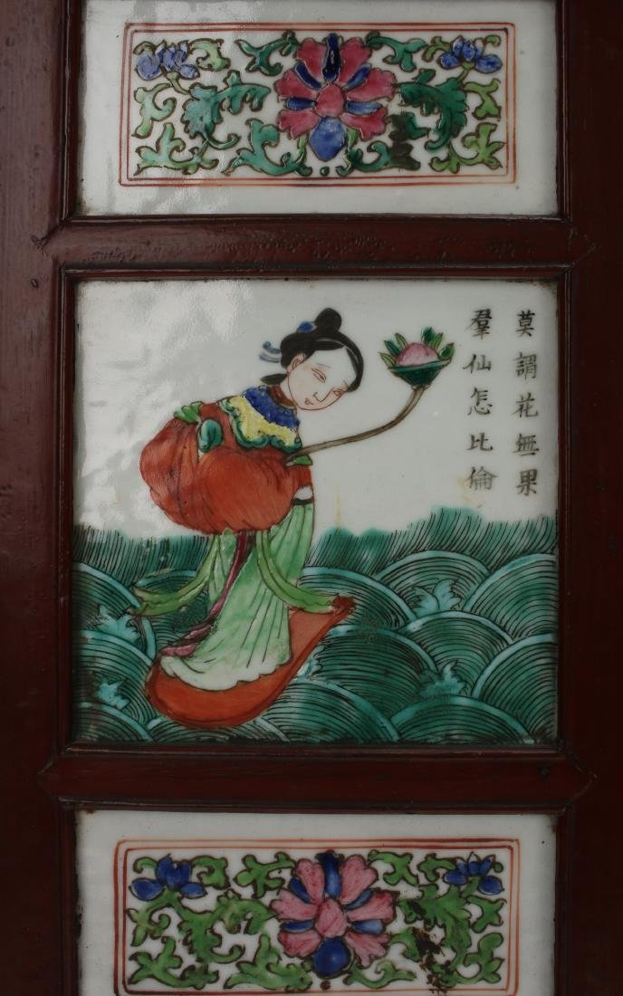 FOUR CHINESE 19TH C PORCELAIN PANELS - 6