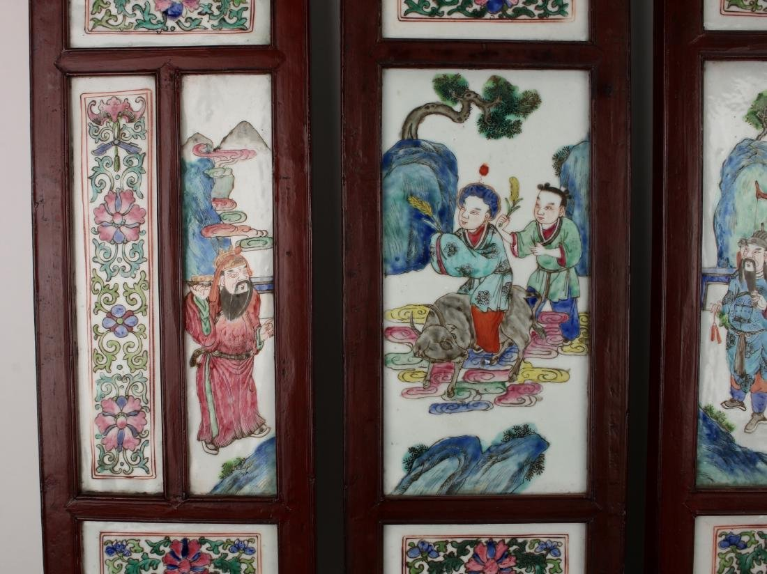 FOUR CHINESE 19TH C PORCELAIN PANELS - 7