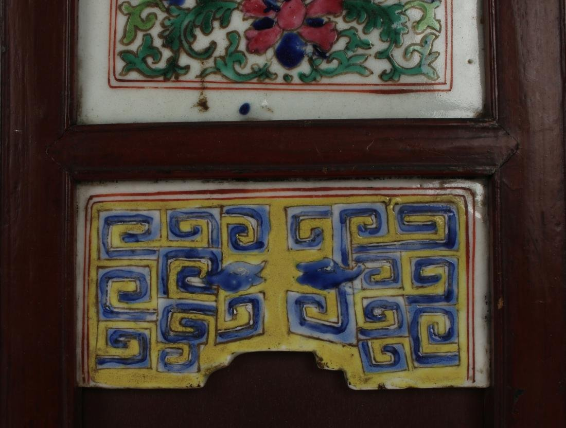 FOUR CHINESE 19TH C PORCELAIN PANELS - 8
