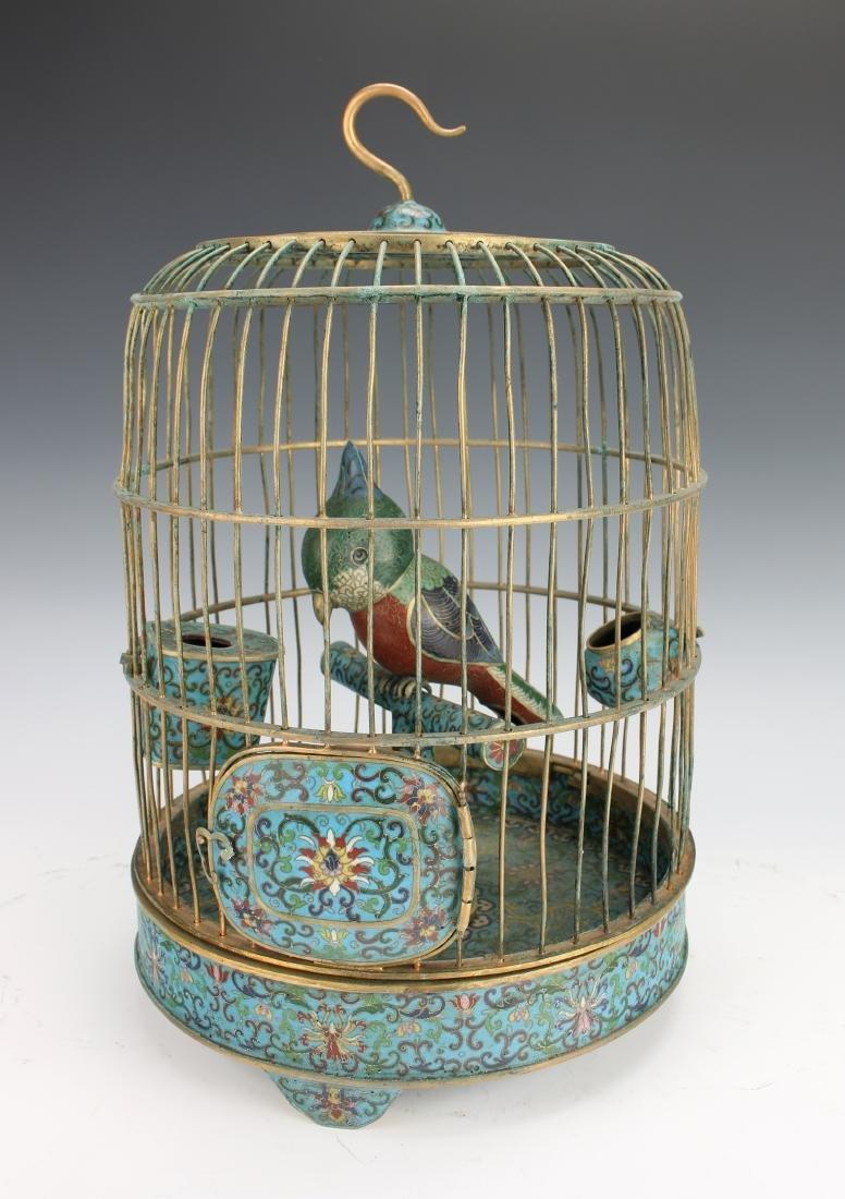 QING QIANLONG CLOISONNE BIRD CAGE